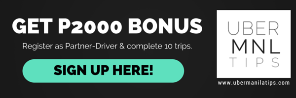 Get Php 2000 Sign Up Reward when you sign up as a Partner-Driver and completed 10 trips. Use our Promo Code: QPKMY.