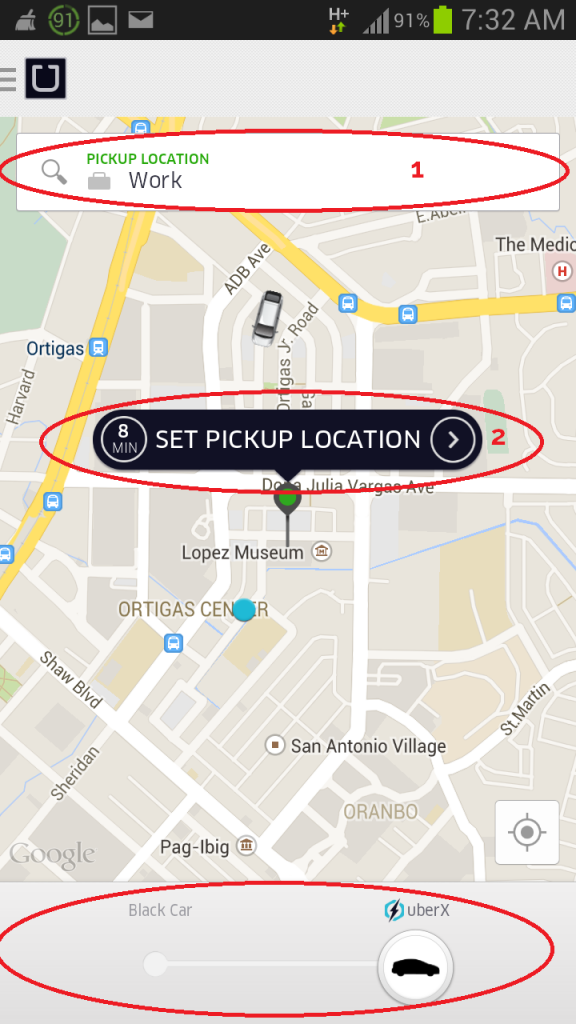 how to use uber app for a ride