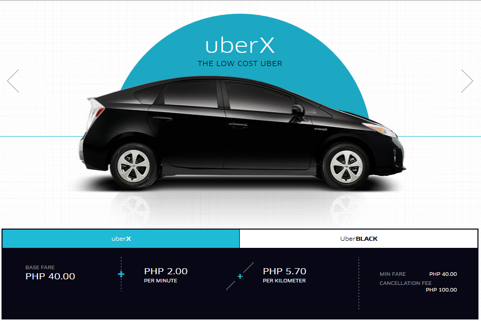Uber Rate Quote >> Basics: How much is Uber in Manila | Uber MNL Tips