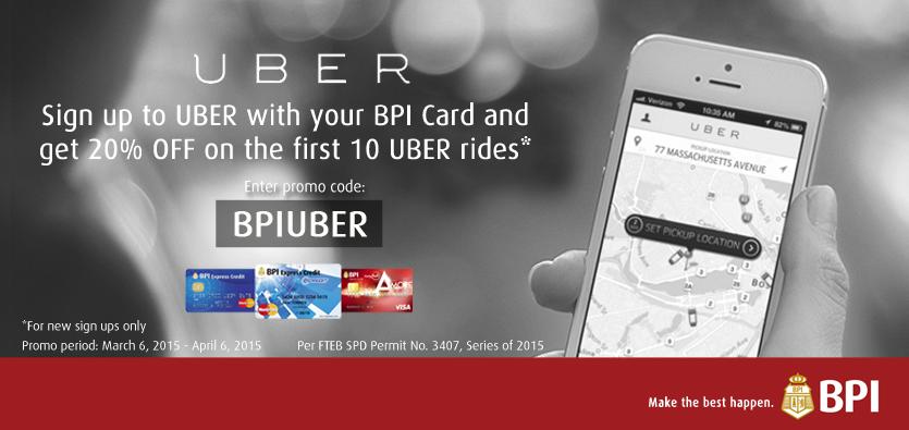 BPI-UBER Promo 20% OFF