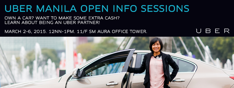 UBER Manila Open Info Sessions Mar 2-6