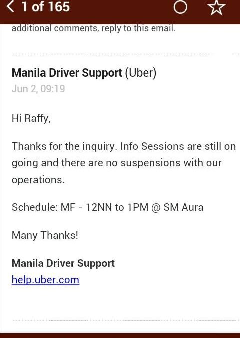 News: Suspension of Uber Grab and Easy