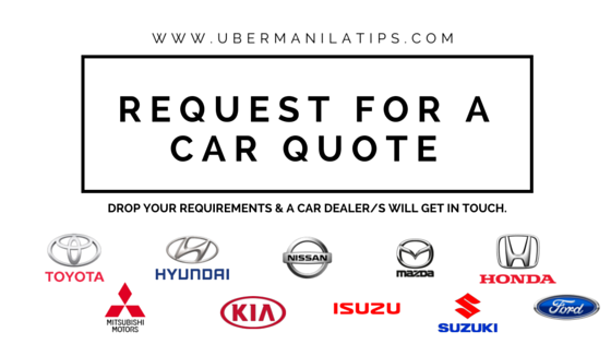 Uber Rate Quote >> List of Accepted Cars for Uber Manila 2017 | Uber MNL Tips