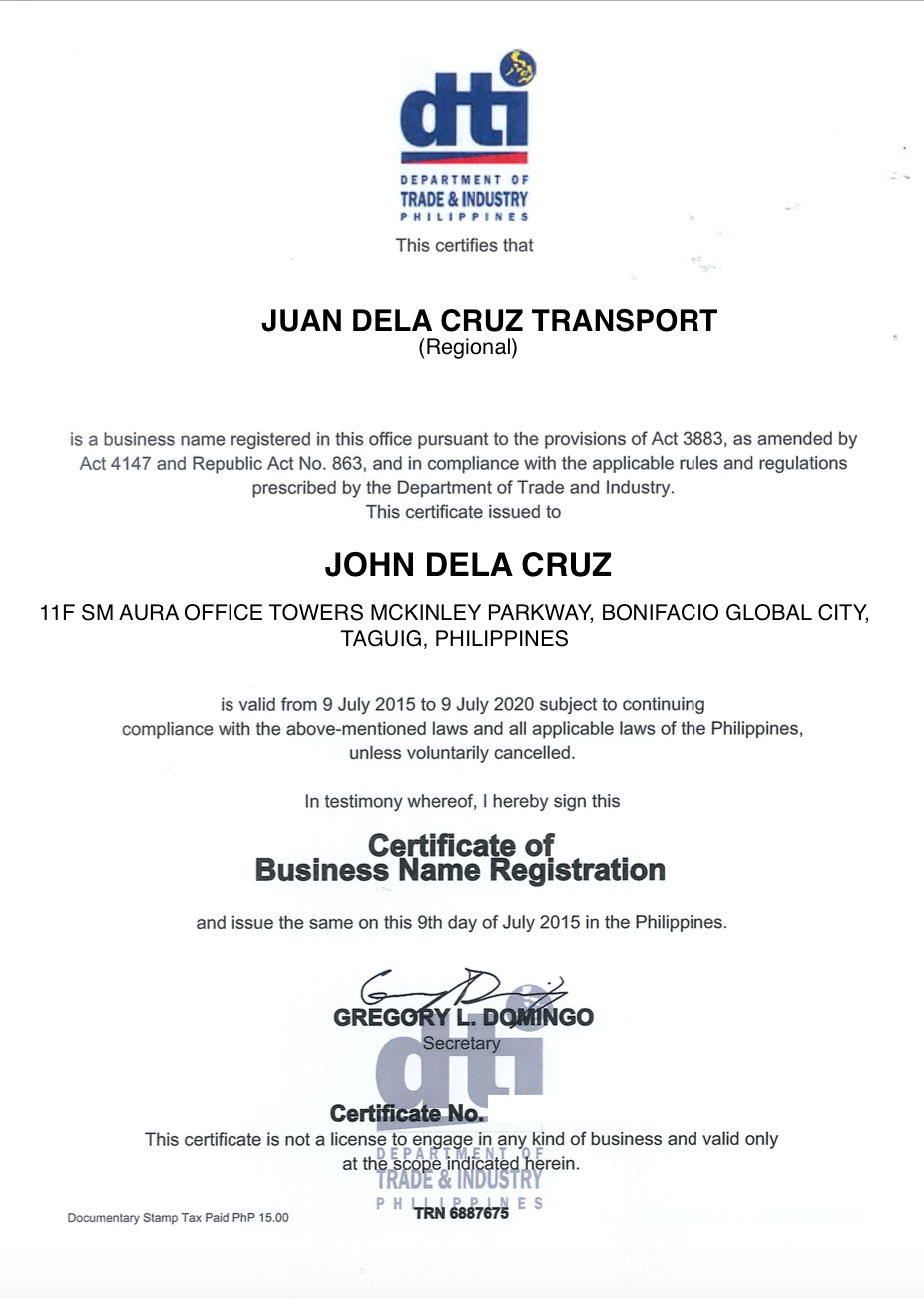 Uber Partner Guide To Dti Online Business Name Registration Uber