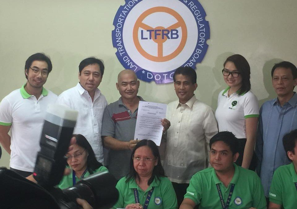 GrabCar files for Provisional Authority (PA) in LTFRB on behalf of its GrabPeers