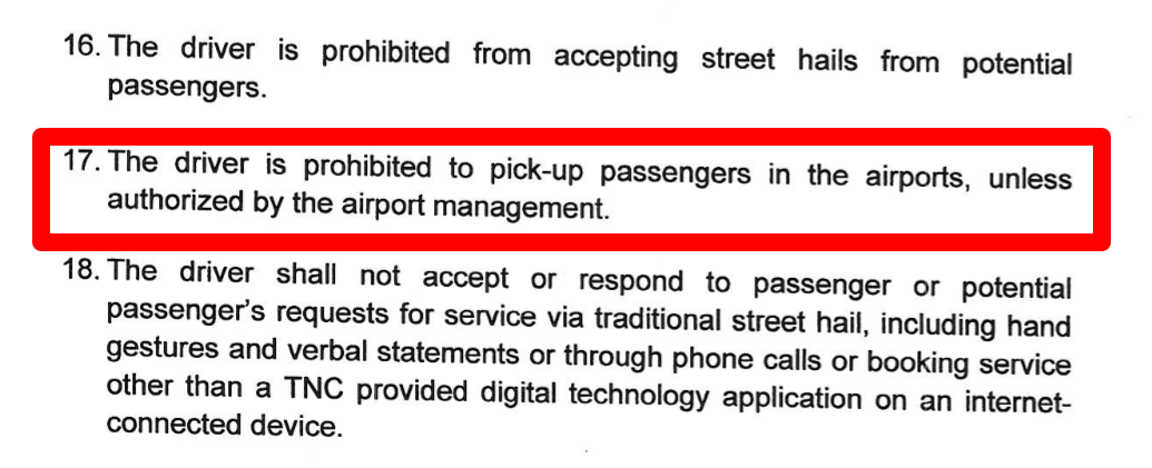 Uber Drivers Cannot pickup passengers from airport