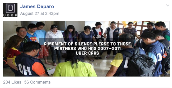 Uber Manila Deactivates 2011 Cars and Older In Accordance to the LTFRB Regulation
