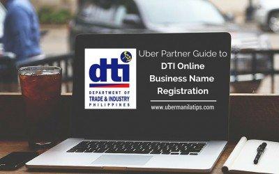 Uber Partner Guide to DTI Online Business Name Registration