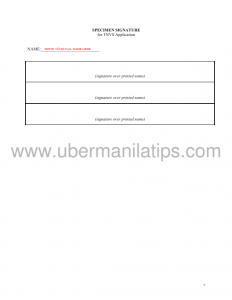 Specimen Signature Template_001