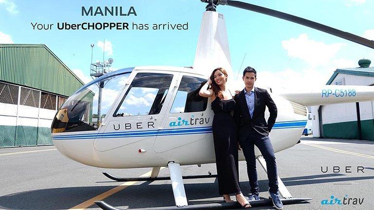 #UberChopper flew above Manila traffic