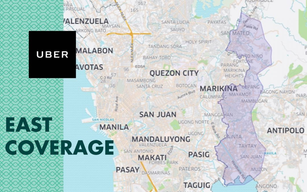 Uber Expands Its Coverage to East of Metro Manila