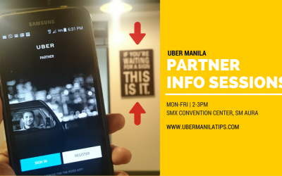 Uber Manila Info Session Schedule