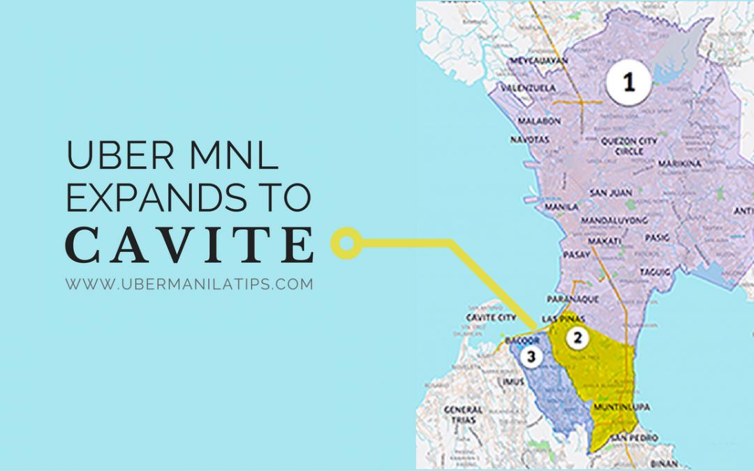 Uber Manila expands to Cavite