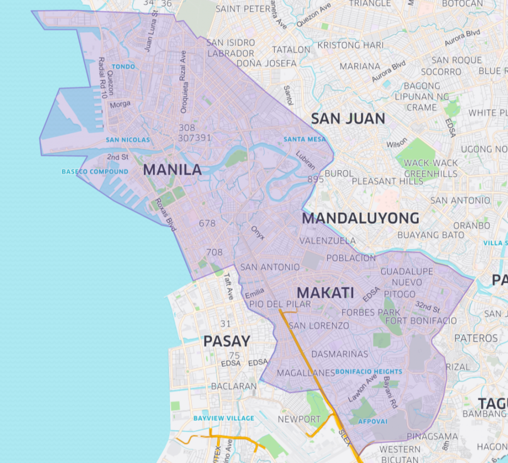 UberCommute Coverage in Metro Manila