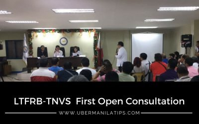 First LTFRB TNVS Open Consultation