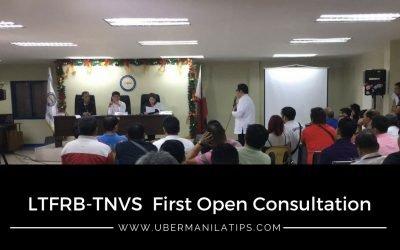 First LTFRB TNVS Open Consultation