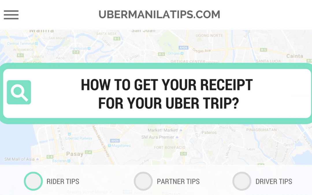 Rider Tip: How to get your Uber trip receipt?