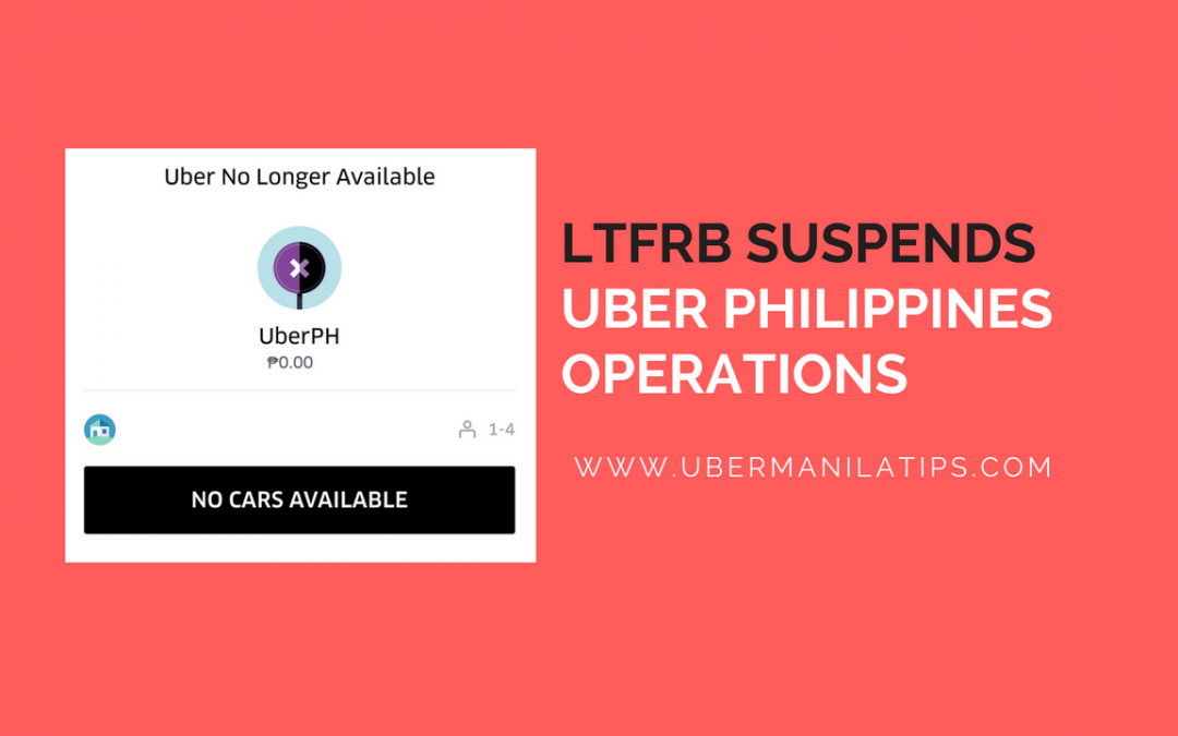 LTFRB suspends Uber Philippines Operation