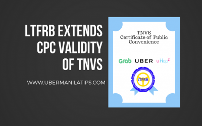 LTFRB extends CPC Validity of TNVS